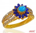 22kt Gold Floral Ring for ladies