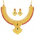 22kt Gold Traditional Mango Mala (Set) - Click here to buy online - 5,188 only..
