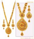 Click here to View - 22K Bridal Patta Haar Set