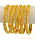 22k Fancy Gold Bangles(Set Of 6)