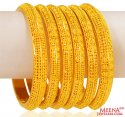 22K Gold Bangles (6 pcs ) - Click here to buy online - 8,111 only..