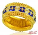 22K Gold Traditional Meenakari Ring