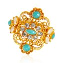 22kt Gold Turquoise Stone Ring