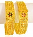 22kt Gold Filigree Kada (2pc) - Click here to buy online - 2,753 only..