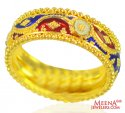 22Kt Yellow Gold Meenakari Band