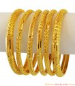 Indian Gold Bangles Set(6 Pcs) 22K