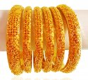 Click here to View - 22k Gold Bangles Set(6Pcs)