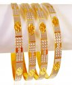22K Gold Two Tone Bangle Set(4pcs) - Click here to buy online - 3,425 only..