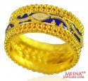 22K Gold Meenakari Band for Ladies