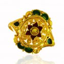 22K Gold Meenakari Ring  - Click here to buy online - 325 only..