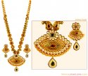 22K Gold Patta Necklace Set - Click here to buy online - 6,769 only..