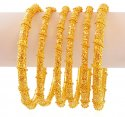 22k Filigree Pipe Bangles (6pc) - Click here to buy online - 4,612 only..