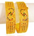 22kt Gold Designer Kada (2Pcs) - Click here to buy online - 3,196 only..