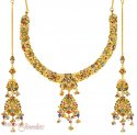 22Kt Gold Antique Set - Click here to buy online - 5,890 only..