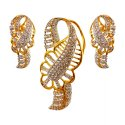 22k Gold Signity Pendant set - Click here to buy online - 870 only..