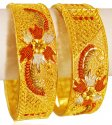 Three Tone Gold Kada (2PCS)