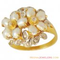 22k Designer Antique Pearl Ring - Click here to buy online - 511 only..