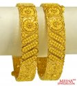 22K Gold Filigree Kada 2PCs - Click here to buy online - 2,947 only..