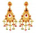 22Kt Gold Chand bali with Jhumki - Click here to buy online - 1,768 only..