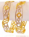 Designer Rhodium Wide Kadas (Pair) - Click here to buy online - 3,584 only..