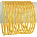 Click here to View - 22k Gold Bangles Set (12 pcs)