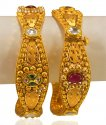 22kt Gold Antique Kada (2 Pcs) - Click here to buy online - 4,246 only..