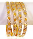 22KT Gold Rhodium Bangles (4 Pcs) - Click here to buy online - 2,979 only..