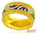 22Kt Gold Meenakari Ring  - Click here to buy online - 752 only..