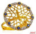22k Gold Adjustable Designer Ring