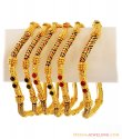 22K Meenakari Bangles Set - Click here to buy online - 4,476 only..