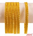 22 Kt Gold Bangles (Set of 6)  - Click here to buy online - 5,900 only..