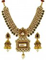22K Executive Kundan Necklace Set - Click here to buy online - 8,823 only..