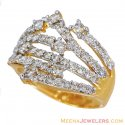 18k Designer Diamond Ring - Click here to buy online - 2,556 only..