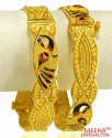 22k Gold Peacock Kadas(2PCS)  - Click here to buy online - 2,457 only..