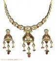 22K Designer Kundan Necklace Set - Click here to buy online - 5,620 only..