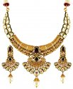 Gold Kundan Necklace Set - Click here to buy online - 5,004 only..