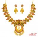 Click here to View - 22 Kt Necklace Set (Temple Jewelry)