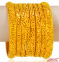 22K Gold Bangles Set of 8