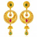 22Kt Gold Chand bali Earrings - Click here to buy online - 1,854 only..