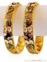 22k Gold Jadau Kundan Kada (2 Pcs) - Click here to buy online - 3,530 only..