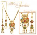 22Kt Gold Antique Necklace Set - Click here to buy online - 2,779 only..