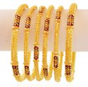 Gold Fancy Meenakari Bangles