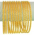 Click here to View - 22k Gold Bangles Set(12 Pcs )