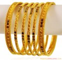 Gold Meenakari Bangles (6 Pc) - Click here to buy online - 4,480 only..