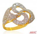 22k Gold Designer Signity Ring - Click here to buy online - 456 only..