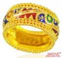 22 Karat Gold Meenakari Ring  - Click here to buy online - 863 only..