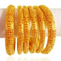 22kt Gold Bangles Set (6 Pc) - Click here to buy online - 5,587 only..