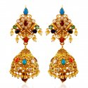 22kt Gold Jumki Earrings - Click here to buy online - 2,452 only..