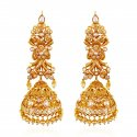 22kt Gold Pearl Jhumki Earrings