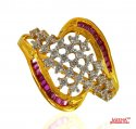 22 Kt Gold Ladies Signity Ring - Click here to buy online - 293 only..